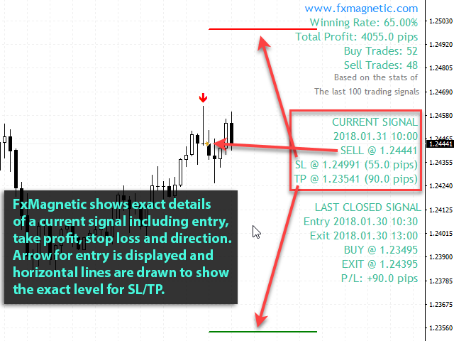 FxMagnetic 2 - Best Forex Indicator for MT4 With Success