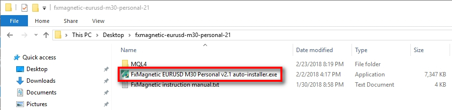 Run the FxMagnetic auto-installer;Double click on the auto-installer to start the installation process.