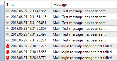 MT4 email test message failed or success